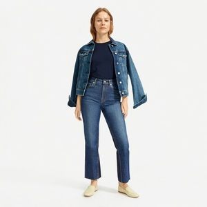Everlane Cheeky Bootcut Jean 32 High Rise Crop